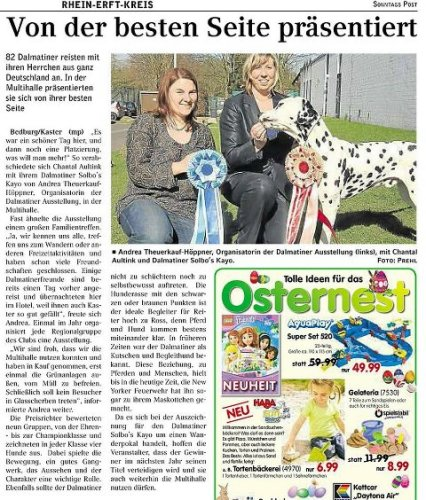 Solbo's Kayo in newspaper germany